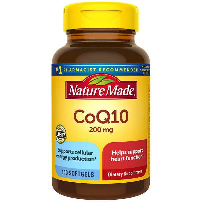 美國Nature Made CoQ10 200毫克 140粒軟膠囊